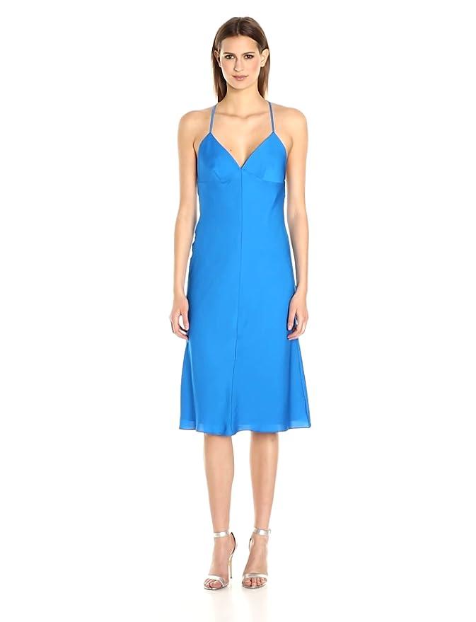 93c7f4bda3a2a Amazon.com: MILLY Women's Cross Back Bias Dress: Clothing