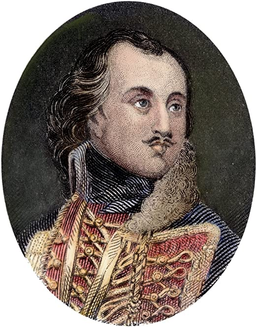 1747-1779 18 x 24 Npolish Soldier In American Revolutionary War Colored Engraving 19Th Century Poster Print by Casimir Pulaski