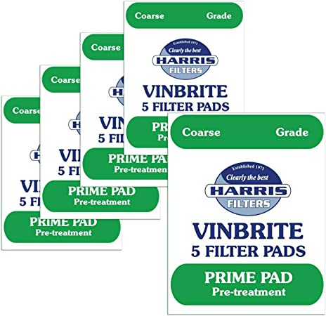 Home Brew & Wine Making - Pack Of 5 Harris Coarse Grade Prime Pads To Fit Mk 3 Vinbrite Filter by Harris Filters: Amazon.es: Hogar