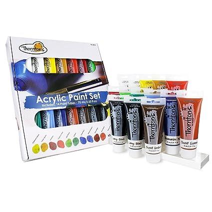 amazon com thornton s art supply acrylic paint tubes assorted