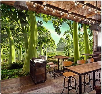 Papel Tapiz Mural 3D Personalizado Pintado A Mano Apio Verde Bosque Restaurante Supermercado Sala De Estar Fondos Papel Tapiz Impermeable, 400 Cm X 280 Cm: Amazon.es: Bricolaje y herramientas