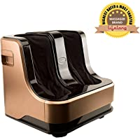 Lifelong LLM99 Foot, Calf and Leg Massager,(With Heat and Vibration), 80W, 4 Motors, Dark Brown