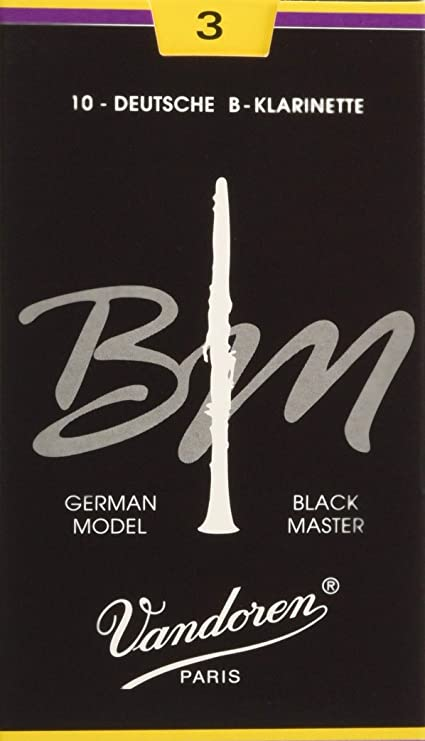 10-Pack of Vandoren Black Master Clarinet Reeds 3