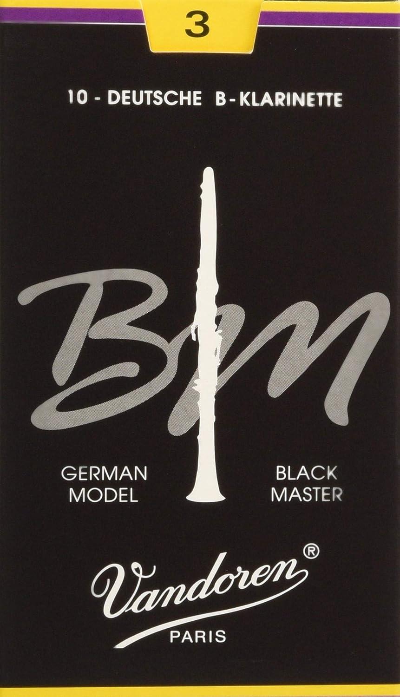 Vandoren CR183 Bb Clarinet Black Master Reeds Strength 3; Box of 10