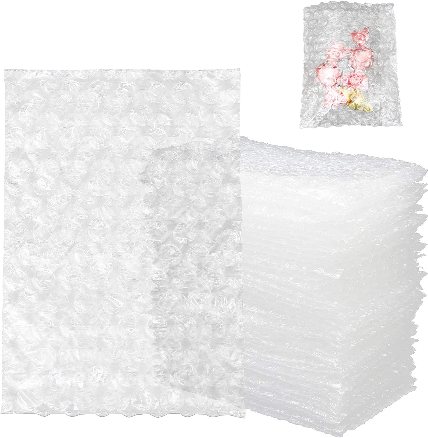 "200 Pack of Bubble Out Bags 4""x 6"" Bubble Pouches for Moving, Shipping, and Storage - Double Walled Cushioning Bags Thickening Shockproof Foam Bags"