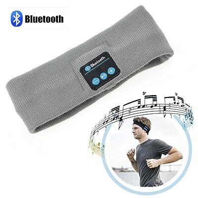 Oreillette Bluetooth sans fil, TPfocus Sport sans fil Yoga Sport HeadphonesHeadphonesH Annulation du casque de sport avec micro intégré stéréo, gris