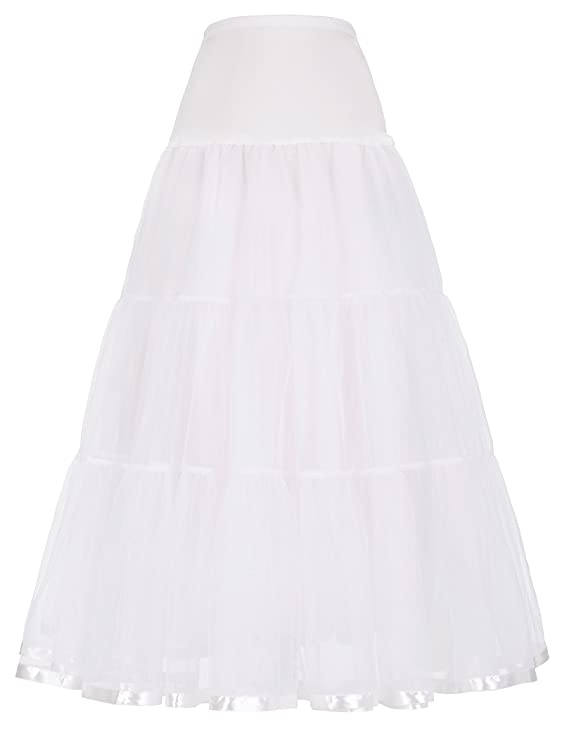 1950s Crinoline, Petticoats & Pettipants  Ankle Length Bridal Wedding Petticoat Slips  AT vintagedancer.com
