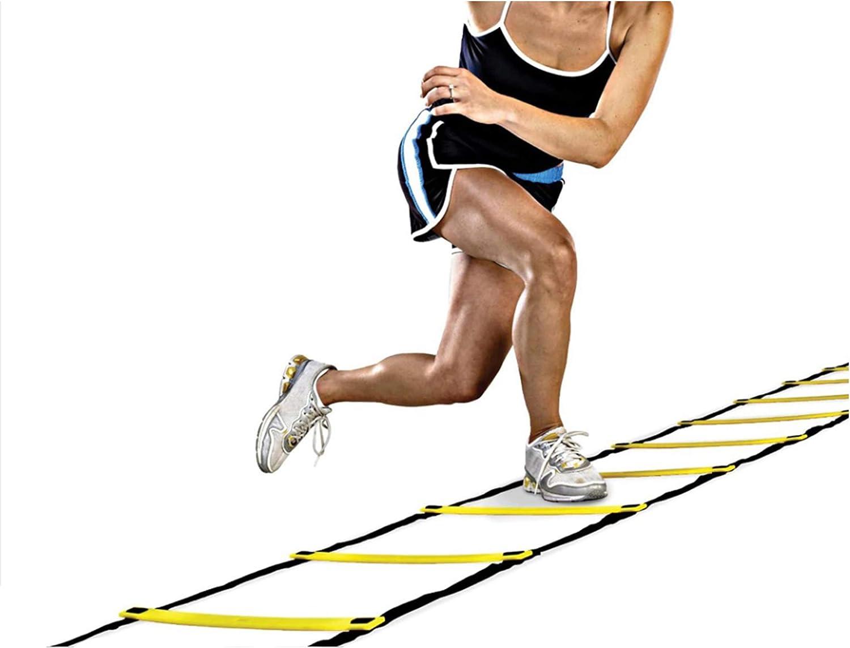 ISO TRADE Coordinación Entrenamiento de Agilidad Escalera para Ejercicios #5067: Amazon.es: Deportes y aire libre
