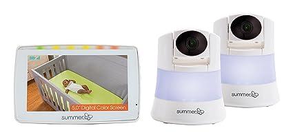 Summer Infant WIDE VIEW 2.0 DUO™ - Juego de Monitor de Vídeo Digital a Color