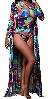 Lovaru Women's New colorful Dyeing Bikini One Piece Swimsuit+Ponchos Cover UPS