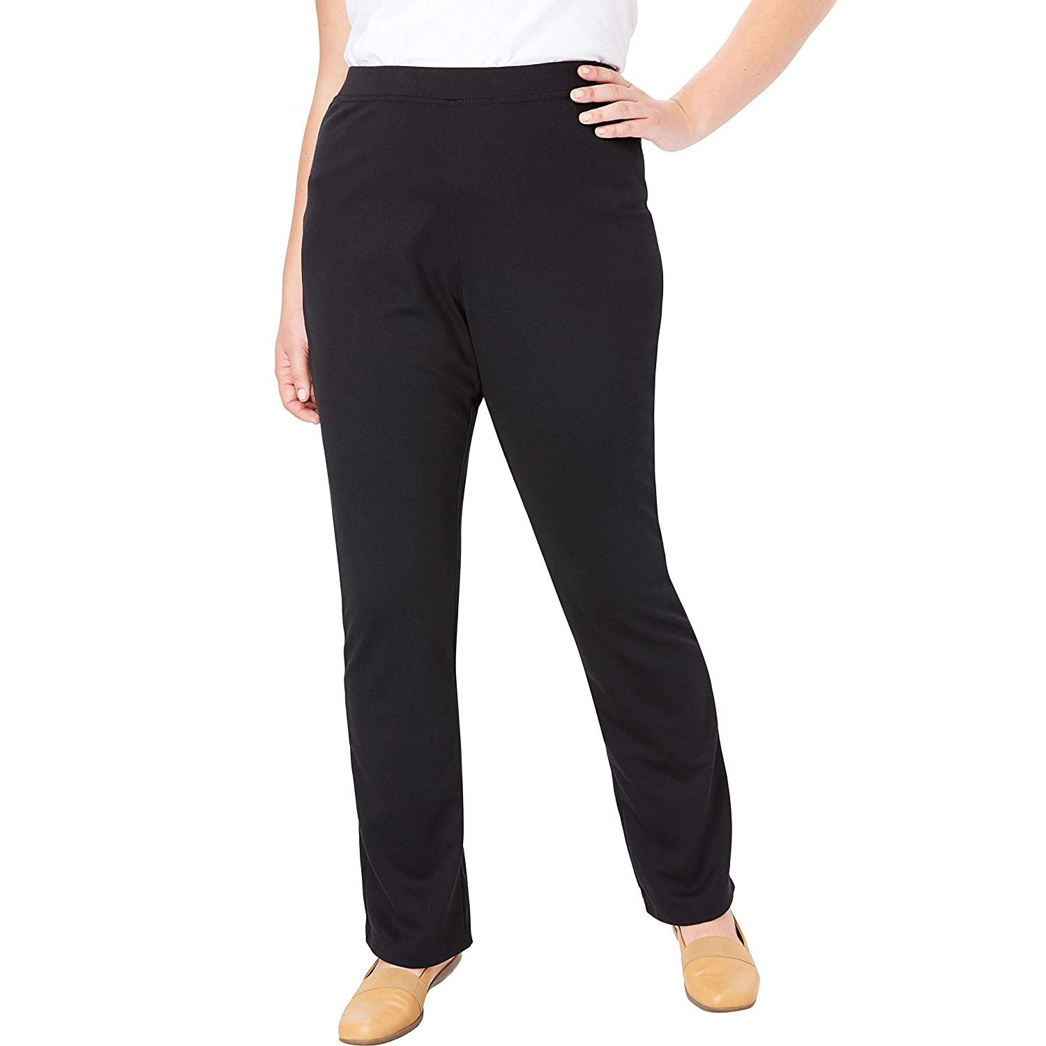 76d9be6c3dc Woman Within Plus Size Bootcut Ponte Stretch Knit Pant at Amazon Women s  Clothing store