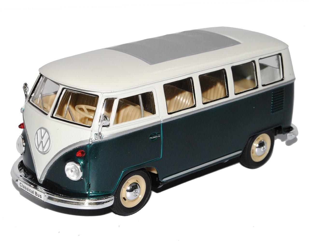 rot//weiß blau VW Bus Samba T1 Bastelbogen 1:25 Papiermodell rot//schwarz
