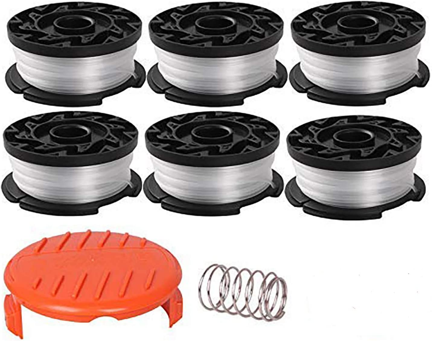 Weed Easter String Autofeed Cap FutureWay Trimmer Replacement Spool Cap Covers and Spring Compatible with Black Decker GH900 LST201 GH600 NST2018 CST2000 4 Spool Head Covers 4 Springs