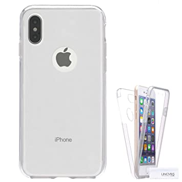 Funda Para Apple Iphone X, Carcasa TPU Full Cover 360 Compatible con Apple Iphone X, Grados Antigolpes Integral Silicona e acrílico Fina Resistente ...