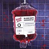 Shower gel pouch of blood