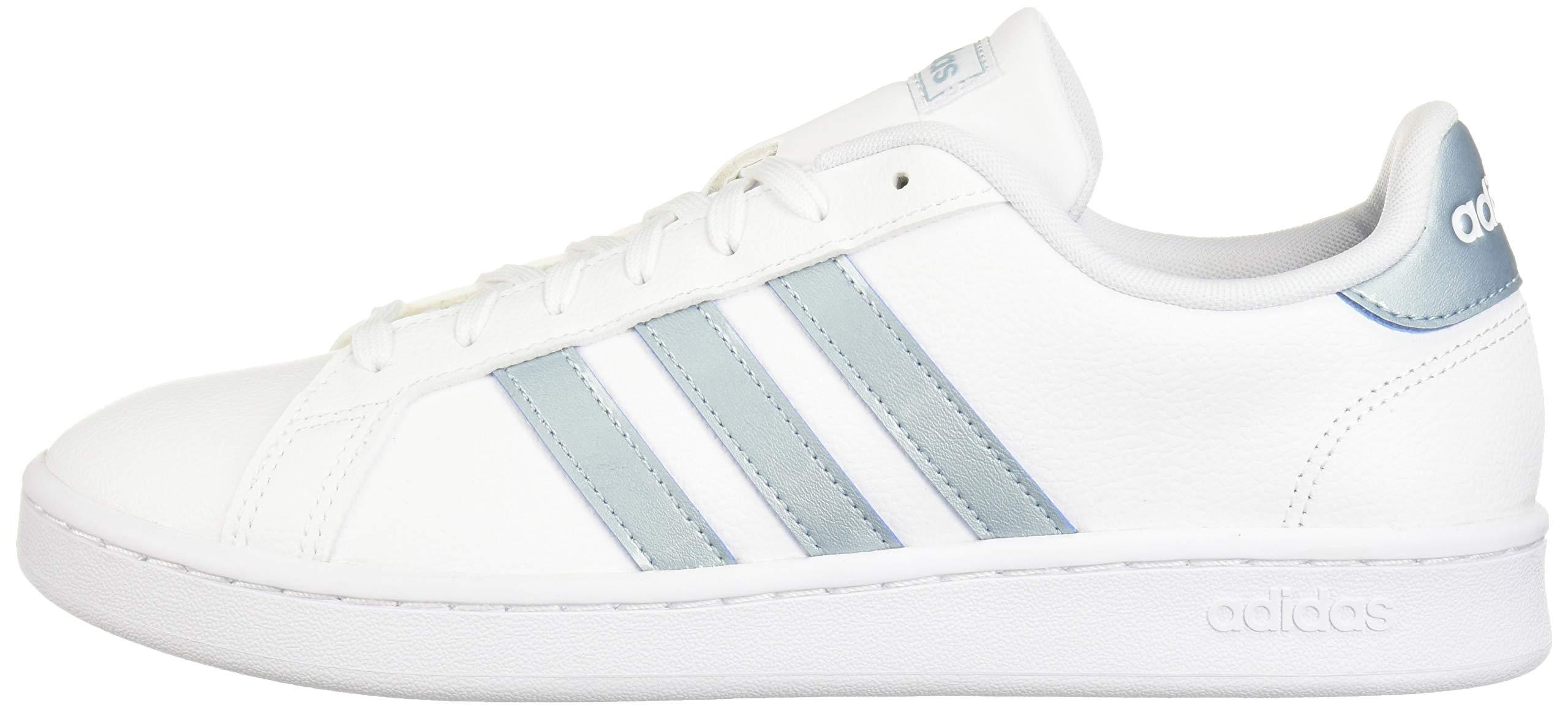 adidas Women's Grand Court Sneaker, White/ash Grey/light granite, 9 M US