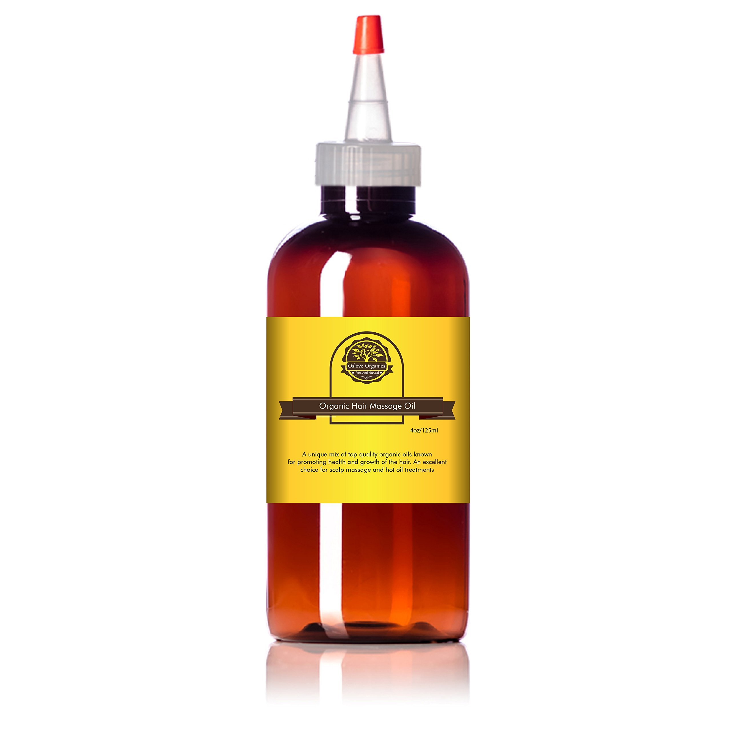 Organic Hair growth oil by Oslove Organics 4oz bottle-Unique blend of virgin organic carrier oils for fast hair growth