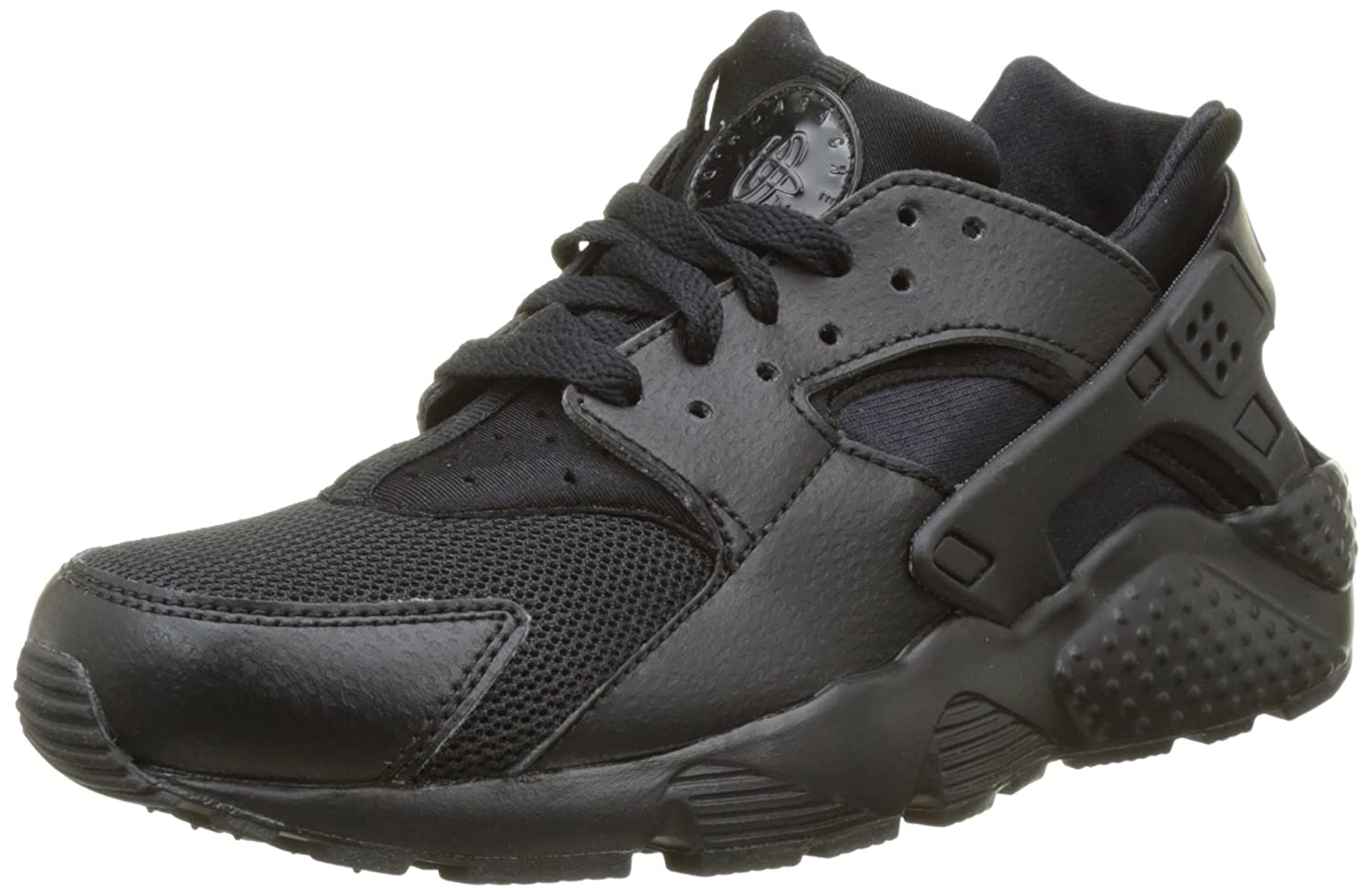timeless design 38815 1d44b Amazon.com  Nike Huarache Run Gs 654275-016 Kids, black black-black,6 US  Big Kid  Sports   Outdoors