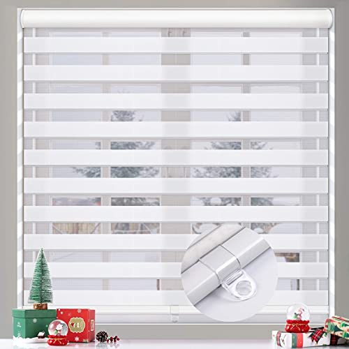 MiLin Cordless Zebra Blinds Window Blinds and Shades Dual Layer Roller Shade
