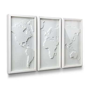 Umbra Mapster Framed Wall Art, Set of 3