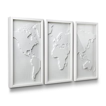 Amazon.com: Umbra Mapster Framed Wall Art, Set of 3: Home & Kitchen