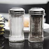 Tablecraft Fluted Glass Salt and Pepper Shaker 2 Ounce