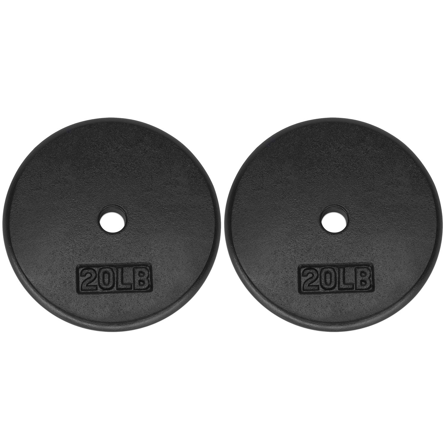 Yes4All 1-inch Cast Iron Weight Plates for Dumbbells – Standard Weight Plates (20 lbs, Pair)