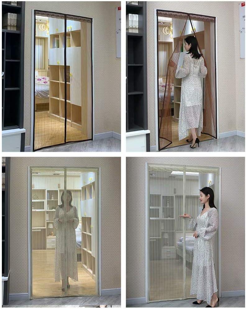 NL Cortina para Puertas Tipo Mosquito - Multiplaca - Protección contra Insectos - Malla de Lamas para Puertas - Antracita 100x220 cm: Amazon.es: Hogar