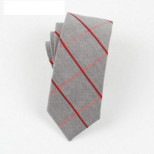 QEHWS Corbata Cotton Mens Ties Design Corbatas A Cuadros Y Rayas ...