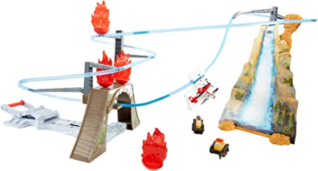 Planes BFM28 - Pista IncendioPico pistón (Mattel) - Pista Incendio en Pico Pistón, Juguete Coche A Partir de 4 Años