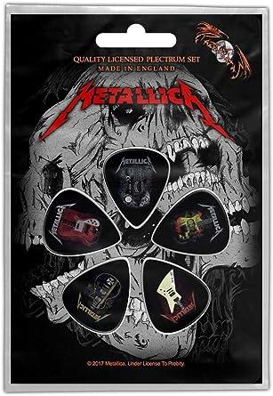 Metallica Guitarras Logo Plectro Pac: Amazon.es: Ropa y accesorios