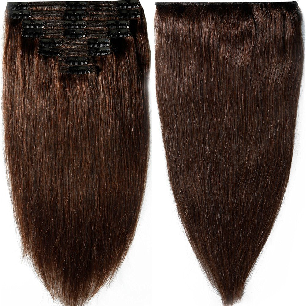 Amazon s noilite 10 22 thick double weft 130 160g grade 7a amazon s noilite 10 22 thick double weft 130 160g grade 7a 100 clip in remy human hair extensions full head 8 piece 16 130g 2 dark brown pmusecretfo Choice Image