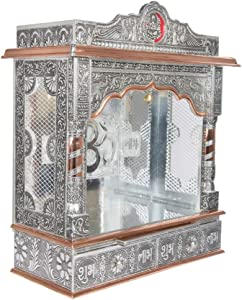 Desi Bazar Indian Hindu Pooja Mandir - Mandap -Temple - Altar for Home Puja in USA - 22 Inches No Doors