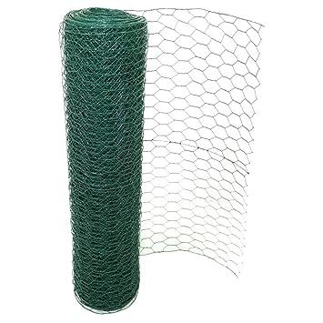 PVC Beschichteter Hühnerzaun Drahtgitter Kaninchen Voliere Mesh Garten Zaun  Panel Barriere Size 0.6M X 50M