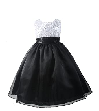 Black flower girl dress