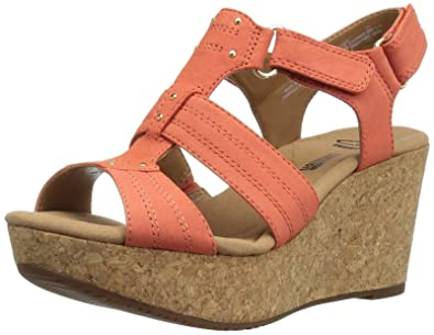 03be86a1409 CLARKS Women s Annadel Orchid Wedge Sandal