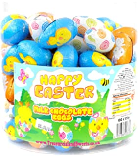 Solid milk chocolate foil wrapped easter eggs x 25kg approx 500 easter eggs bulk box of 100 negle Image collections