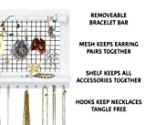 SoCal Buttercup White Jewelry Organizer with