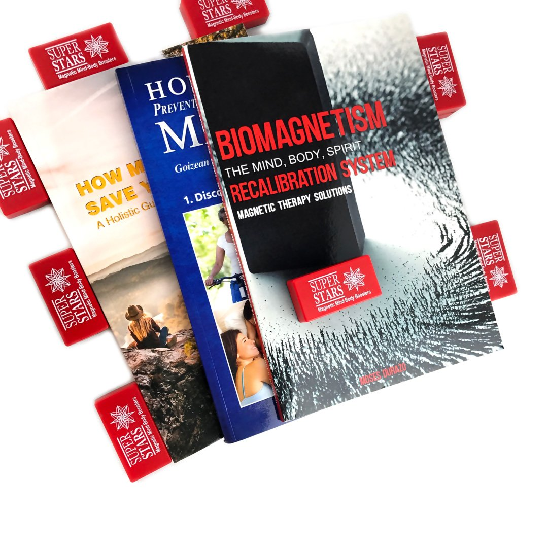 ULTIMATE Biomagnetic Therapy, 3 Books and 10 Magnets (count) for Pain Relief, Detoxification, Boost Immune System & Mental Wellness, Durazo Medical Health Magnets with Instructions by Super Stars (Image #2)