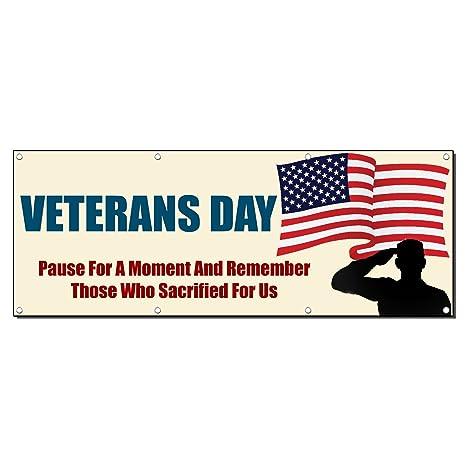Amazon.com: Veteranos Día Pause para un momento y Recuerde ...