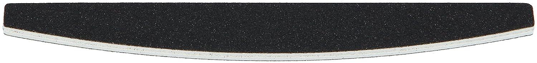 99nails 1 Stück Premium Nagelfeile Halbmondfeile Trapez Schwarz Nagelstudio Feile 100/180 Körnung Profifeile Premium Feile