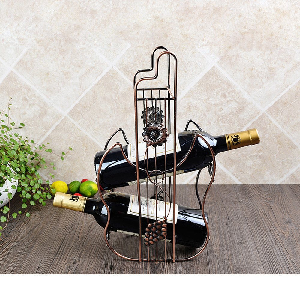 Bronze Wine Holders Rack Creative Cabinet Decorations Botellas Hanging Bar European