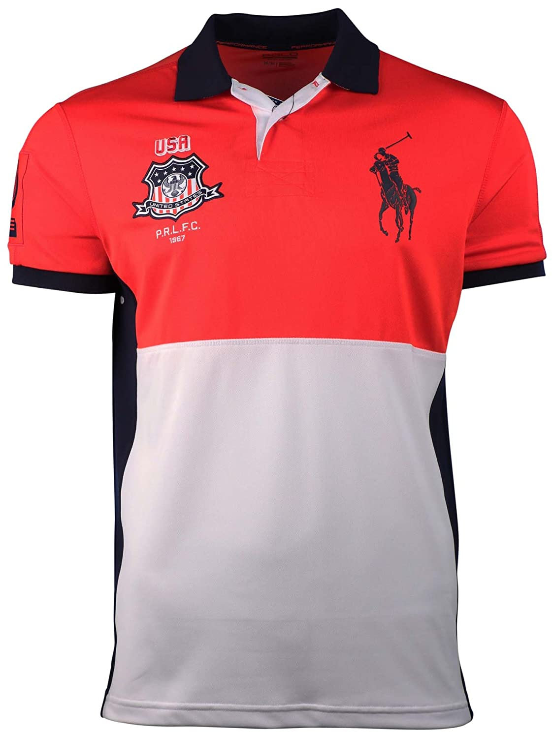 Polo Ralph Lauren Sport Mens Usa Performance Mesh Polo Pure White