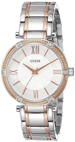 Guess Reloj analogico para Mujer de Cuarzo con Correa en Acero Inoxidable W0636L1: Amazon.es: Relojes