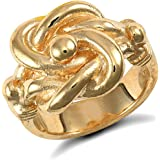 Jewelco London Men's Solid 9ct Yellow Gold Double Knot Ring