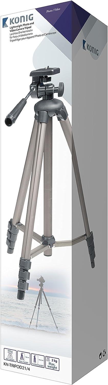 Konig KN-TRIPOD21//4 Lightweight Camera Tripod and Carry Case