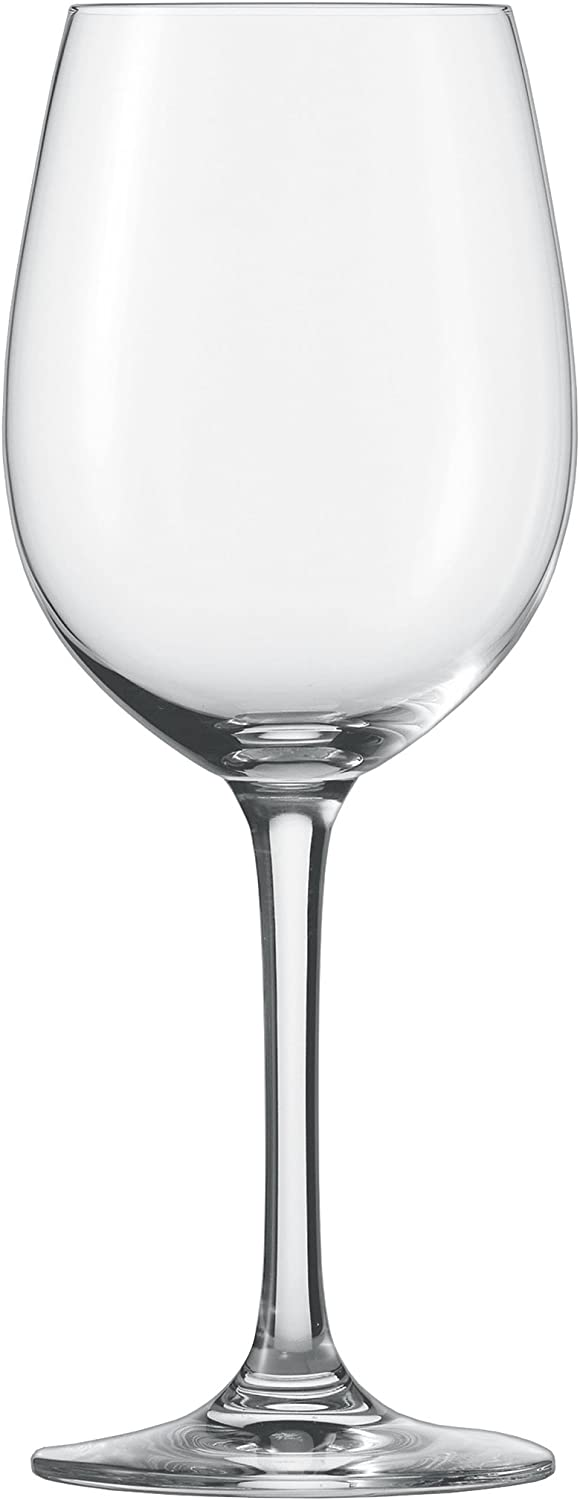 Schott Zwiesel Tritan Crystal Glass Classico Stemware Collection Wine/Water Goblet, White or Red Wine Glass, 18.4-Ounce, Set of 6