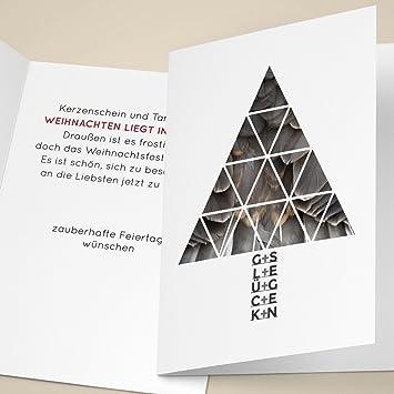 Designer Firmen 100er set edle unternehmen weihnachtskarten mit designer