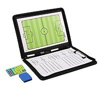 AGPTEK Magnetic Football Coaching Board,Tactics Clipboard Folder with Zipper Closure,Marker Pen & Eraser to Master Strategy