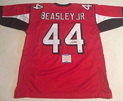Image Unavailable. Image not available for. Color  Vic Beasley Jr  Autographed Signed Atlanta Falcons Custom Red Jersey Beckett Authentic bf45a8a73